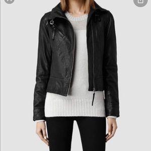 All saints leather jacket Belvedere